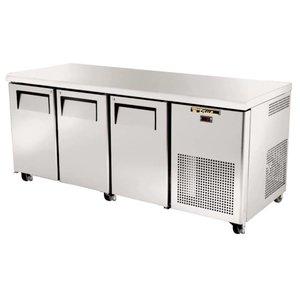 True Coole Workbench - RVS - 3 Türen - 188x86x (h) 71 cm - 456 Liter - 5 Jahre Garantie
