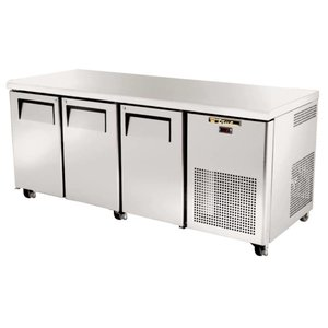 True Freeze-Workbench aus Edelstahl 3 Türen - 456 Liter - 86x188x71cm - 5 Jahre Garantie