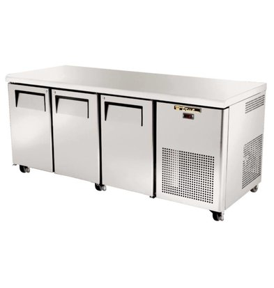 True Freeze Workbench stainless steel 3 doors - 456 Liter - 86x188x71cm - 5 year warranty