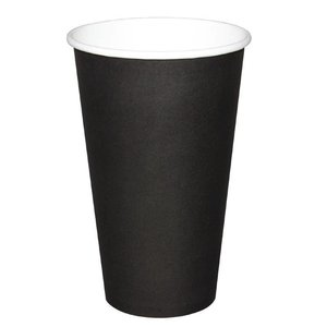 XXLselect Hot Tassen Cup - Schwarz - 45cl - Einweg - Menge 50