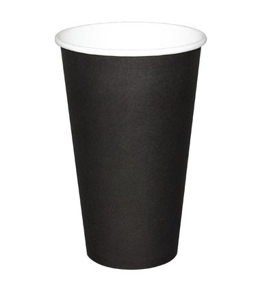 Olympia Hot cups Cup - Black - 45CL - Disposable - Quantity 50