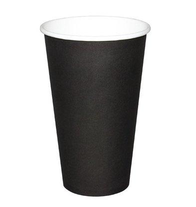 Olympia Hot Tassen Cup - Schwarz - 45cl - Einweg - Menge 50
