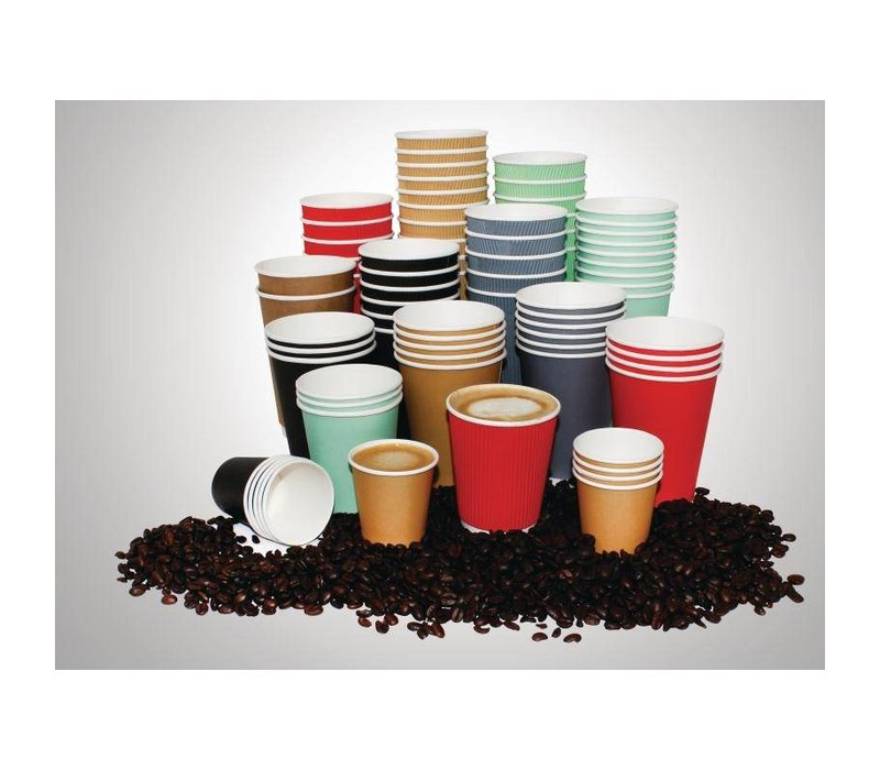 XXLselect Hot cups Beker - Zwart - 45cl - Disposable - Aantal stuks 50