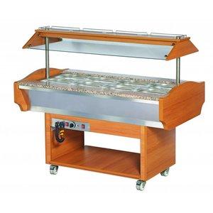 XXLselect Buffet Warming Showcase | 500W | + 30 / + 90 ° C | 1505x900x870 / 1320 (h) mm