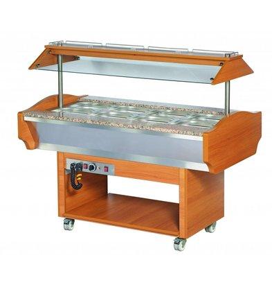 XXLselect Buffet Warming Showcase   500W   + 30 / + 90 ° C   1505x900x870 / 1320 (h) mm
