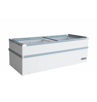 Combisteel Schrank mit Glasdeckel | 530 Liter | 410W | 1550x960x825 (h) mm