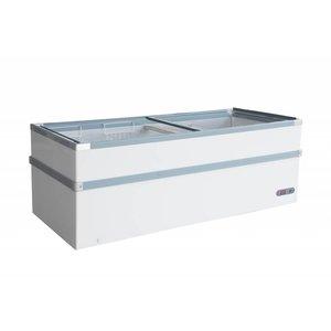 XXLselect Vrieskist met Glasdeksel | 980 Liter | 600W | 2550x960x825(h)mm
