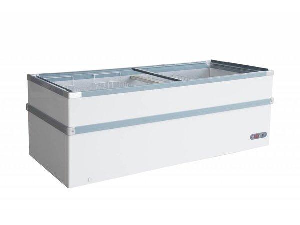 Combisteel Vrieskist met Glasdeksel | 980 Liter | 600W | 2550x960x825(h)mm