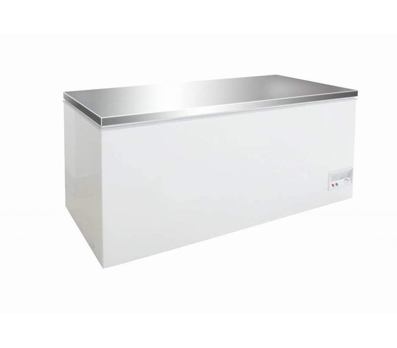 Combisteel Freezer with stainless steel lid   526 Liter   130W   1604x675 / 720x860 (h) mm