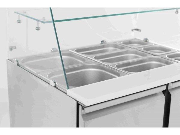 Combisteel Saladette 2 Tür | Glass Rebellion | 2,4kW | 900x700x850 (h) mm