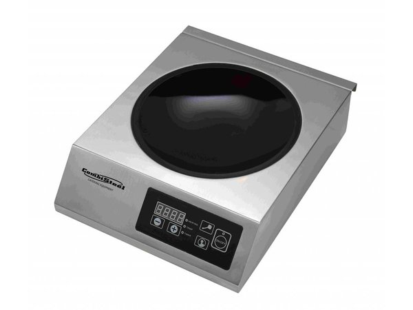 Combisteel Inductie wokplaat   Digitaal   0,5-3,5kW   340x440x117(h)mm