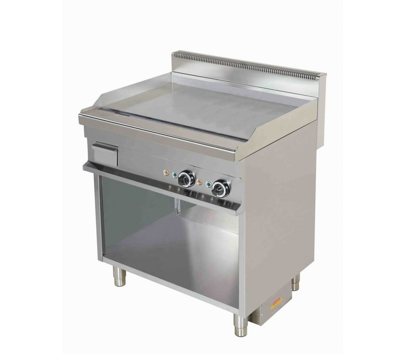 Combisteel Electric Griddle Chrome | smooth | 8,1kW / 400V | 800x700x900 (h) mm