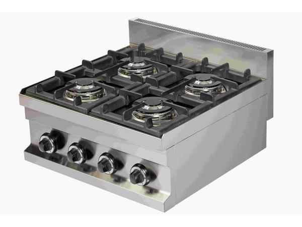 Combisteel Gaskookunit 4 Burners | 4x 3,6kW | 600x600x265 (h) mm