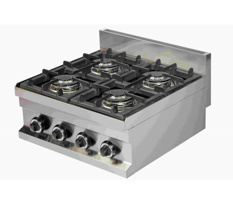 Combisteel Gaskookunit 4 Brenner | 4x 3,6kW | 600x600x265 (h) mm