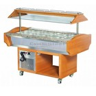 XXLselect Buffet Refrigerated display case | 220W | 4 / 1GN | 1505x900x870 / 1320 (h) mm