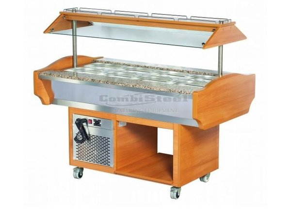 Combisteel Buffet Refrigerated display case   220W   4 / 1GN   1505x900x870 / 1320 (h) mm