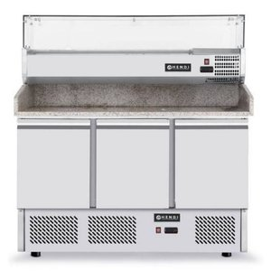 Hendi Pizza Saladette - Machine Bottom - 3 door - Adjustable legs - 1365x700x (h) 850 mm
