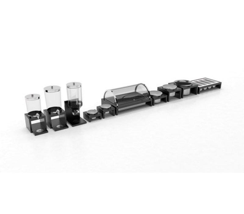 "APS Refrigerated Display Case Buffet ""Bridge"" | black | 635x425x310 (h) mm"