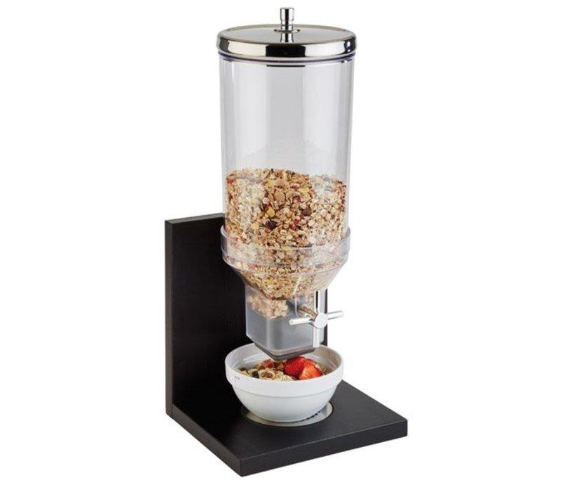"APS Cereal Dispenser ""Bridge""   4.5 Liter   black   210x200x555 (h) mm"