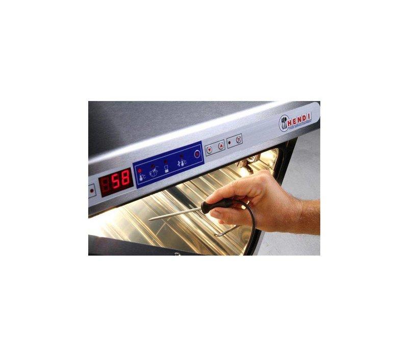 Hendi Niedertemperaturofen   1200W   bis + 100 / + 120 ° C   495x690x415 (h) mm