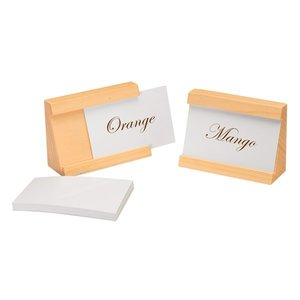 APS Set of 2 Card Holders | Natural | Incl. 40 Tickets | 90x35x65 (h) mm