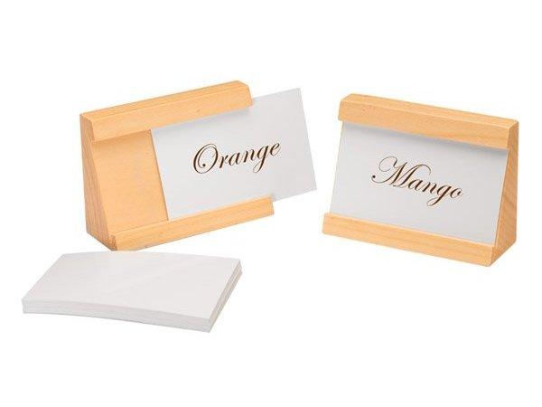 APS Set mit 2 Kartenhalter | Natürliche | Inkl. 40 Karten | 90x35x65 (h) mm
