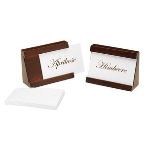 APS Set mit 2 Kartenhalter | braun | Inkl. 40 Karten | 90x35x65 (h) mm