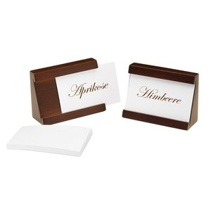 APS Set of 2 Card Holders | brown | Incl. 40 Tickets | 90x35x65 (h) mm