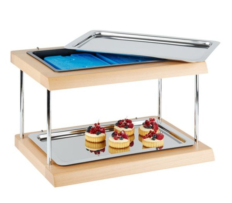 "APS Kühlvitrine Buffet APS | ""Double Decker"" | 600x410x360 (h) mm"