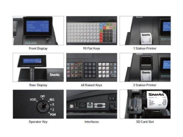 Sam4s Kassasysteem Traditioneel | Sam4s NR-500B | Enkel Station Printer | LCD Display | Plat Toetsenbord