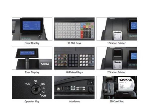 Sam4s Traditional POS system | SAM4S NR-500RB | Single Station Printer | LCD Display | increased Keyboard