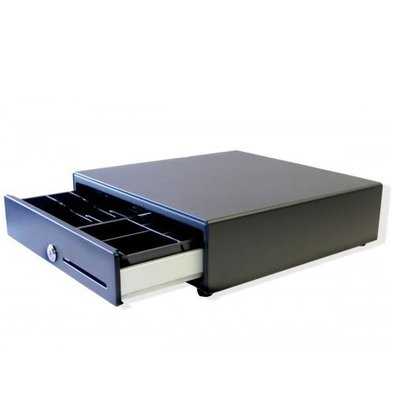 XXLselect Cash Drawer Front Touch Black | RED-335 | 8 coin / 6 bill | 1 Afroomgleuf | 335x335x90 (h) mm