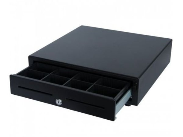 XXLselect Cash Drawer Front Touch Black | RED-410 Budget | 8 Coin / 4 Ticket (ABS) | 2 Afroomgleuven | 410x415x110 (h) mm