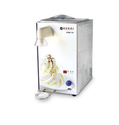 Hendi Whipped Cream Machine stainless steel | 100 liters / hour | 6/9 liter storage | 295x520x520 (h) mm