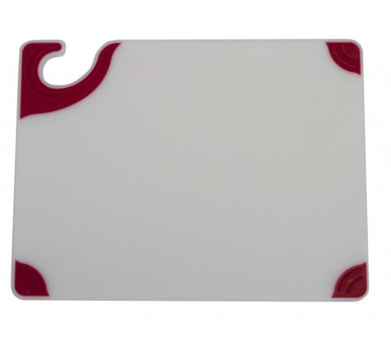 San Jamar San Jamar Cutting board - 23x30cm - Saf-T-Grip - White board - Colored corners