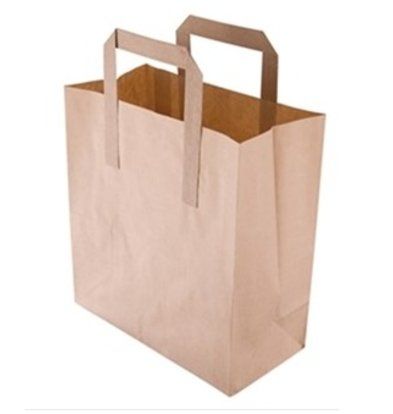 XXLselect Bruine Papieren Draagtassen | Vetvrij Kraftpapier | in 3 Maten Verkrijgbaar