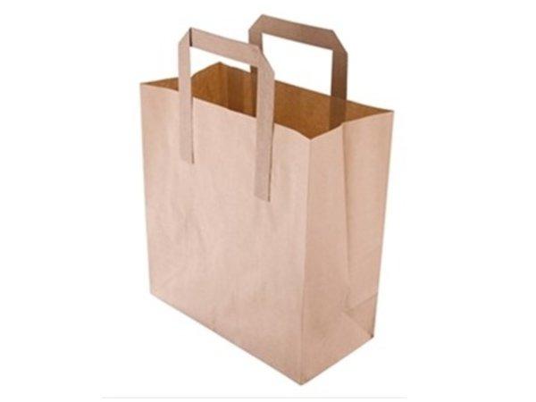 Bruine papieren draagtassen vetvrij kraftpapier in 3 for Bruine papieren vensterzakjes