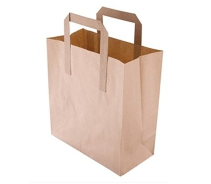 Brown Paper Bag Greaseproof Kraft In 3 Sizes Available