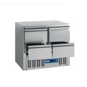 Diamond Cool Workbench SS | 4 Loading | 90x70x (h) 87 / 89cm | DELUXE