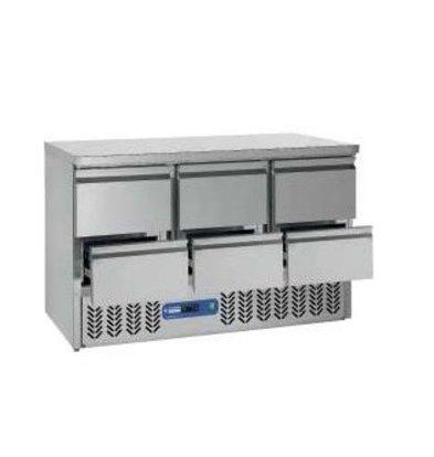 Diamond Cool Workbench SS | 6 Loading | 136x70x (h) 85 / 89cm | DELUXE