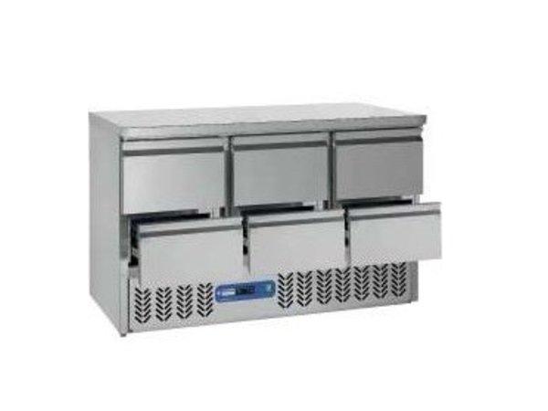 Diamond Kühle Workbench SS | 6 Loading | 136x70x (h) 85 / 89cm | DELUXE