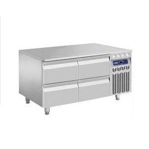 Diamond Koelwerkbank RVS | 4 Laden | 120x70x(h)63/65cm | DELUXE