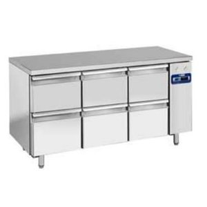 Diamond Cool Workbench SS | 6 Loading | 159x70x (h) 88 / 90cm | DELUXE