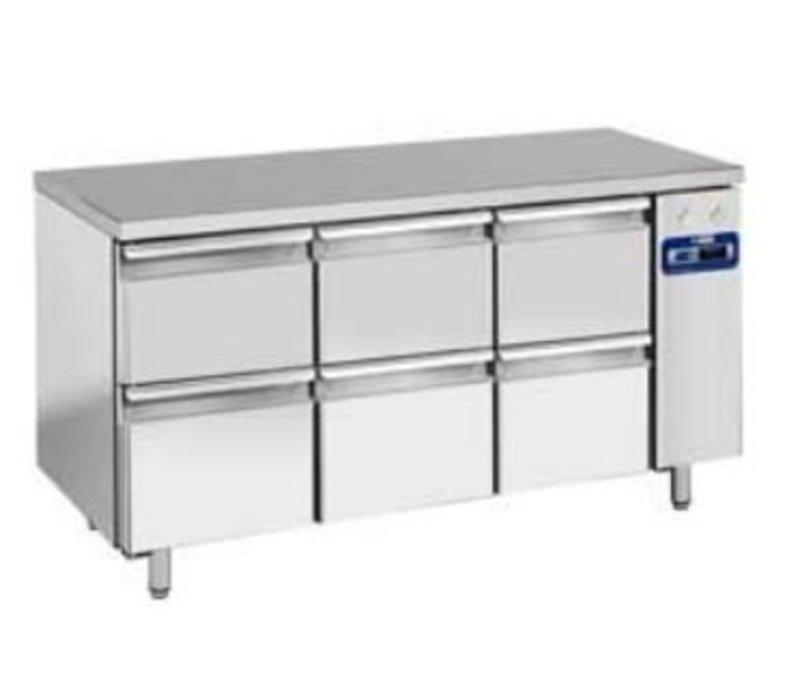 Diamond Cool Workbench SS | 6 Loading | 159x70x (h) 88 / 90cm | DELUXE