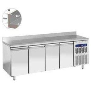 Diamond Cool Workbench SS | 4 Doors with Splash Edge | 225x80x (h) 88 / 90cm | Robust