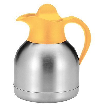 XXLselect Thermos Stainless Steel - 1 Liter - Yellow Screw Cap