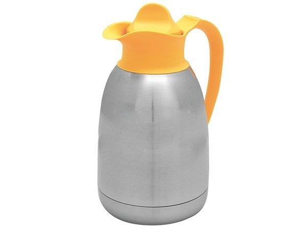 XXLselect Thermos - Stainless steel - screw - 1.5 liters - yellow