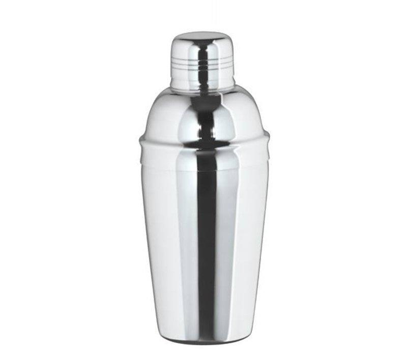 XXLselect Cocktail Shaker dreiteilige Hochglanz 0.5 Liter