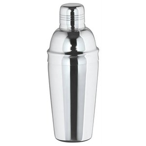 XXLselect Cocktail Shaker three-piece glossy 0.7 Liter