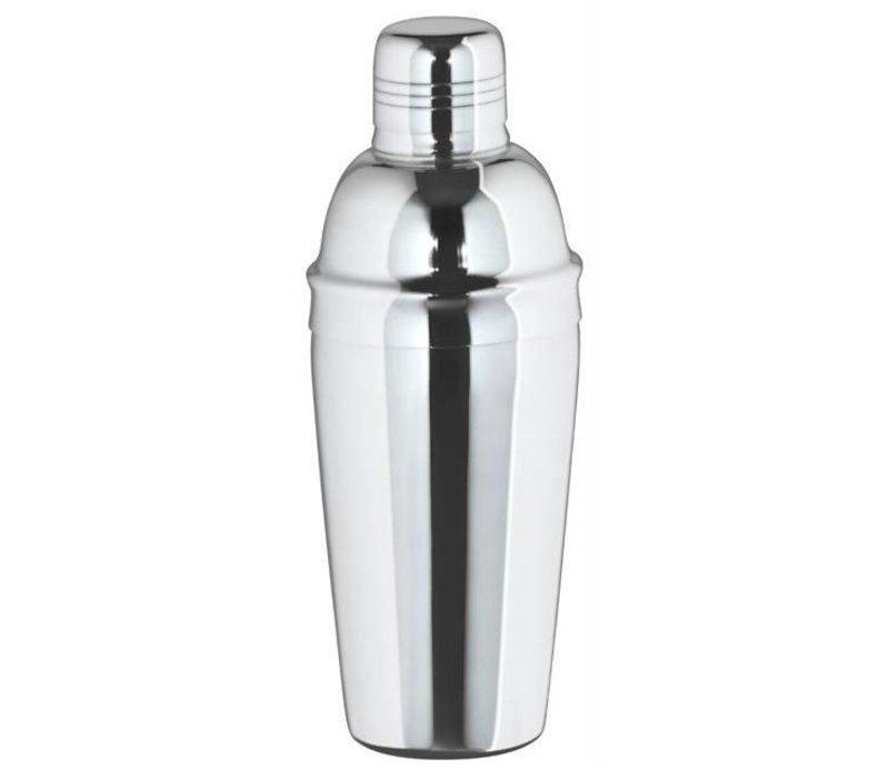 XXLselect Cocktail Shaker dreiteilige Hochglanz 0,7 Liter